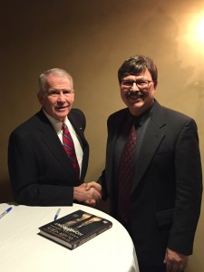Col. North with Center Executive Director and Founder, Dr. Charles Emmerich